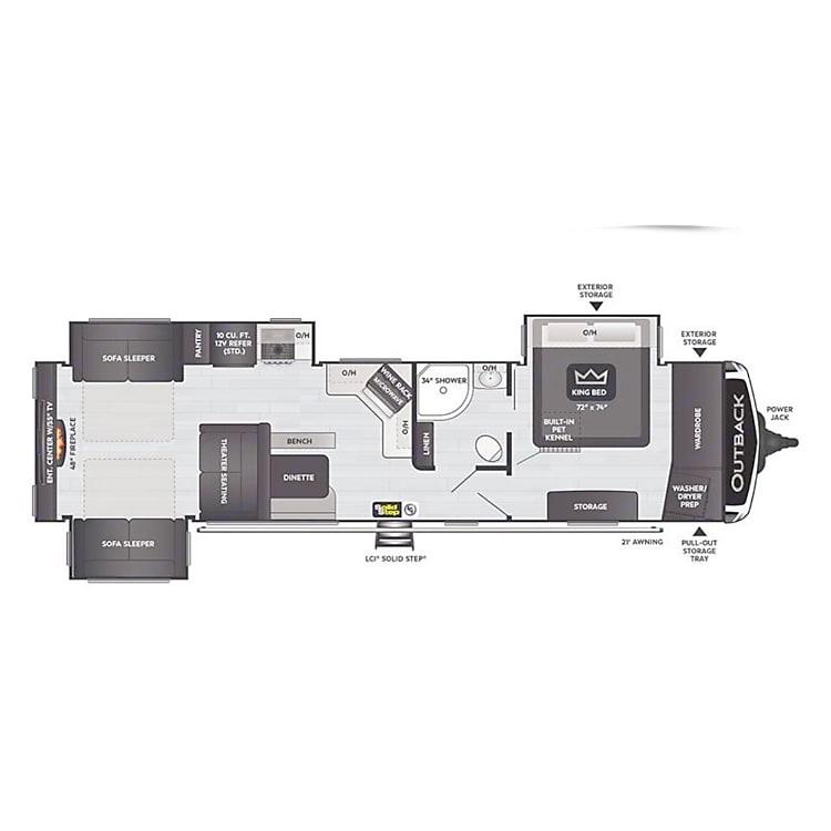 Luxurious floorplan