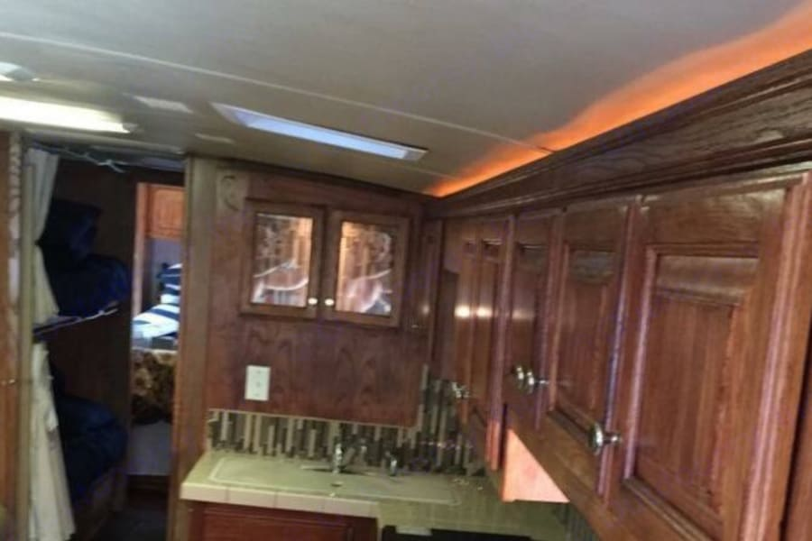 Kitchen, bunk & hall view