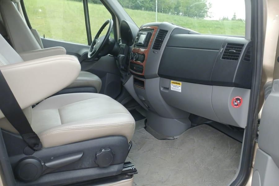 Passenger Side Front with Door Open.