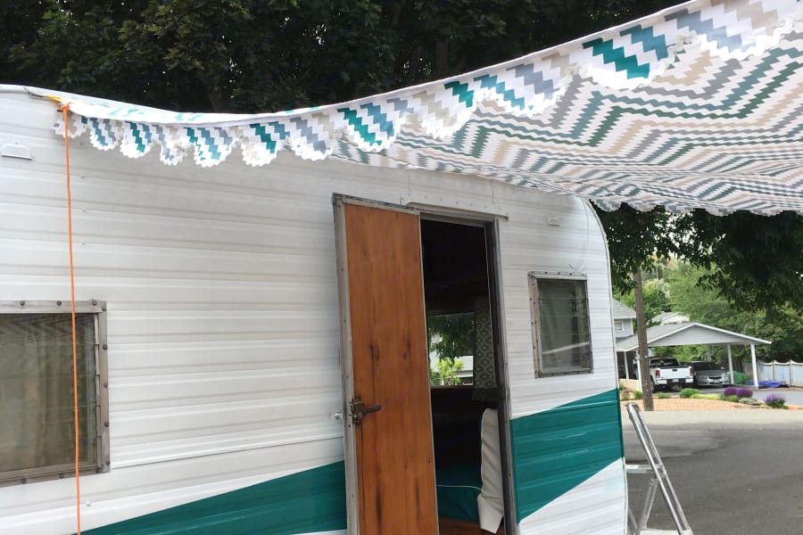 Just made this custom awning.