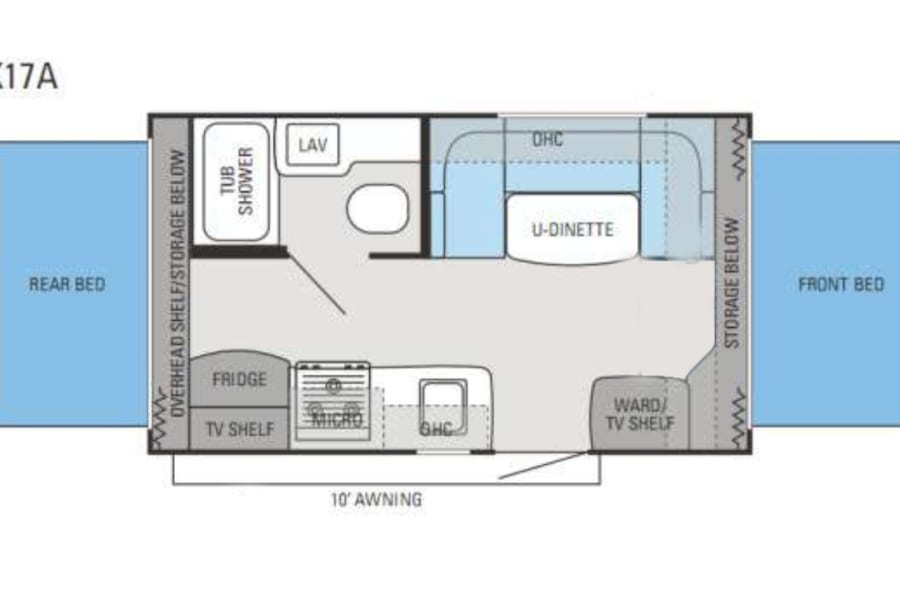 Floorplan of the Jayco X17A