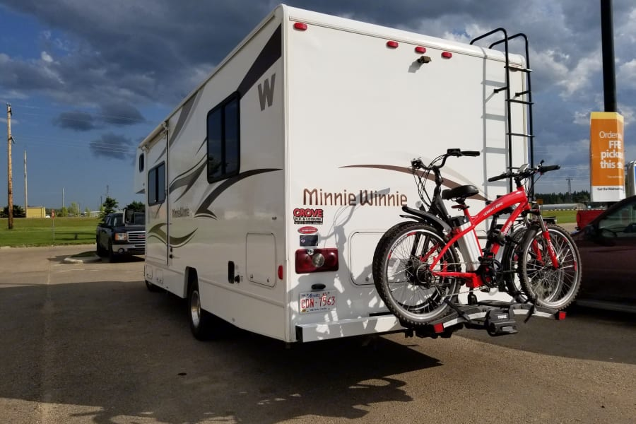 Bike Carrier F available at additional cost of $100