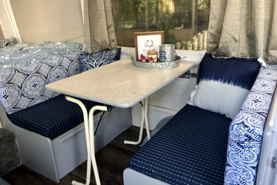 Dinette converts to sleeping area