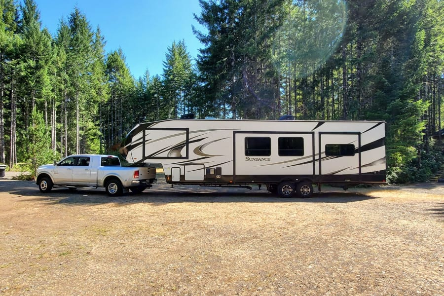 Camping at Lake Cushman, WA