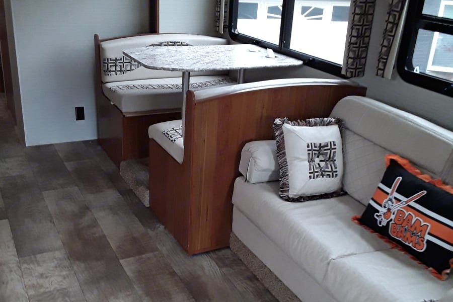 This is jack knife couch and convertible dinette