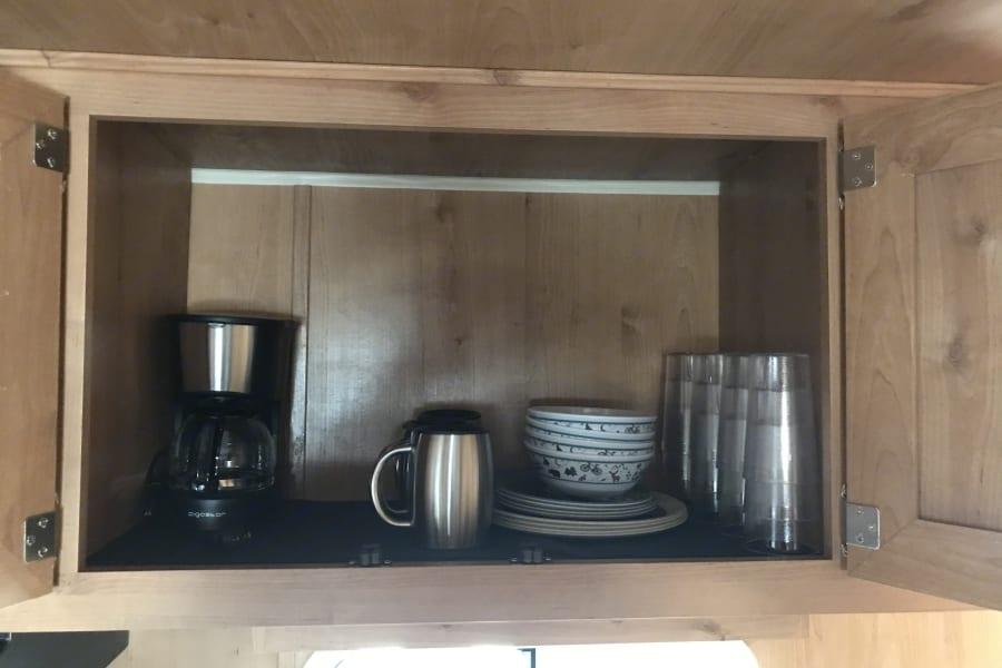 Stocked cupboard
