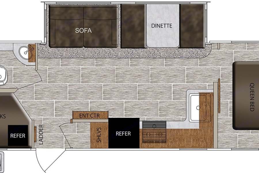 27BHS floor plan with private bedroom