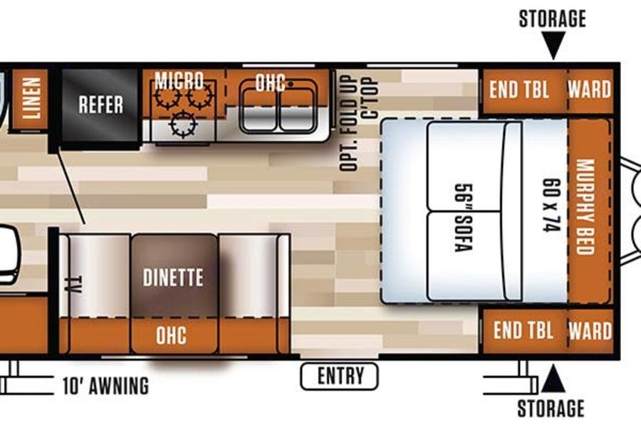 Floor plan of our camper