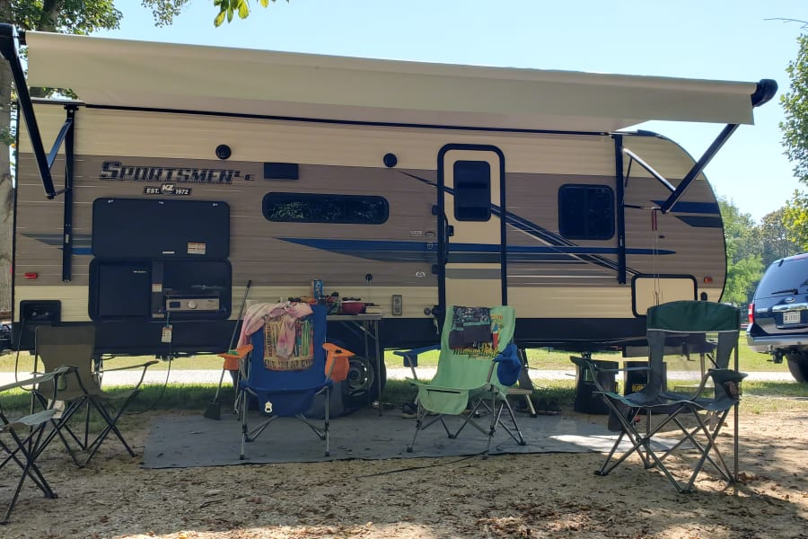 Front View with Awning Set-up