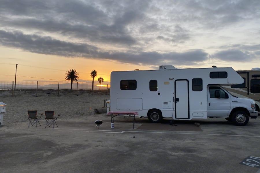 Enjoy Beautiful Sunrise at one of many Southern CA Beaches!