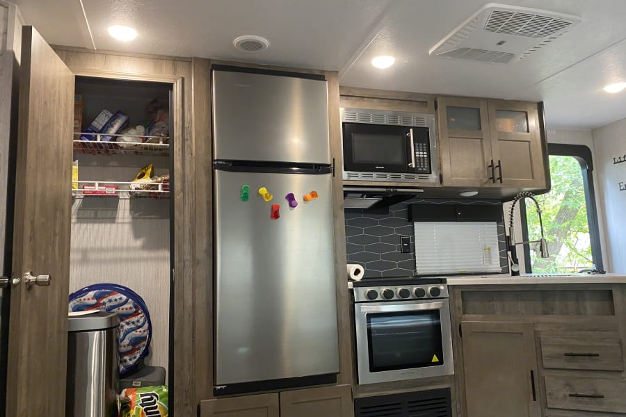 Kitchen and pantry.