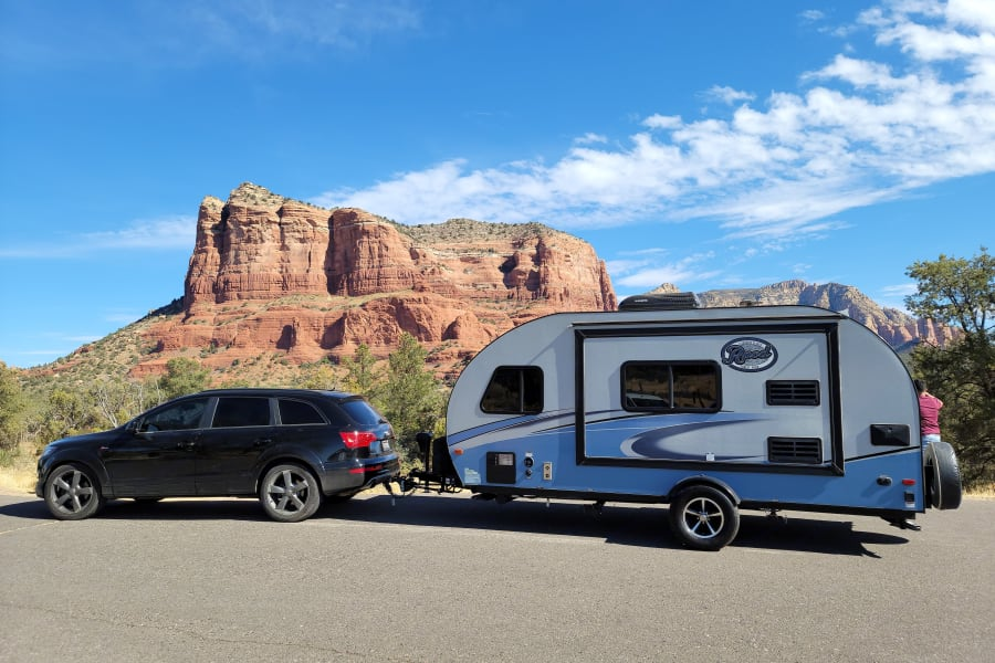 See the world from the comforts of your own SUV and Travel Trailer