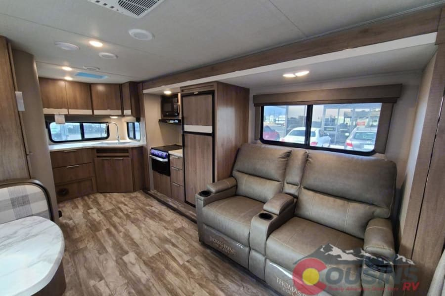 Check out the recliners and big kitchen