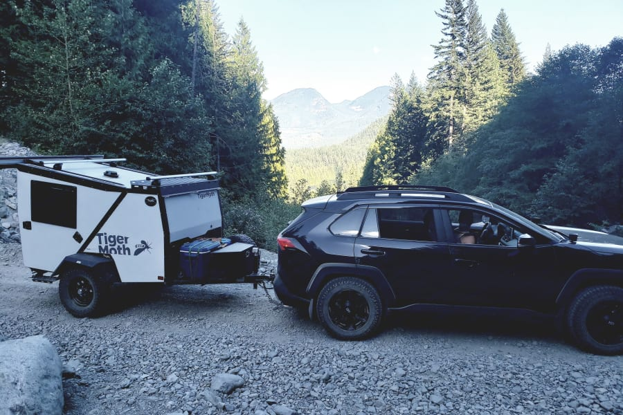 Our RAV4 Adventure and Taxa Outdoors TigerMoth, great gas mileage and ruggedness, who can ask for more.