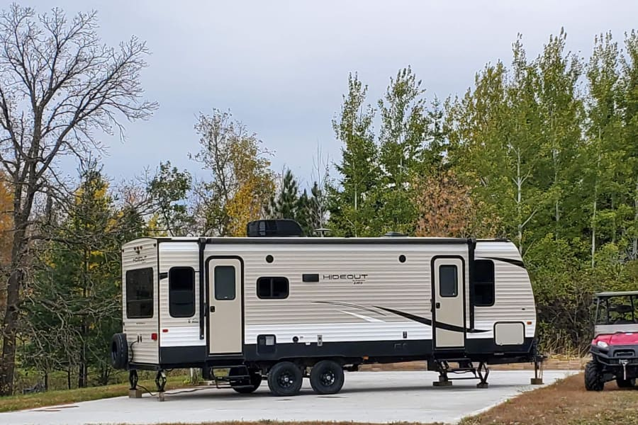 hideout on our private rental lot