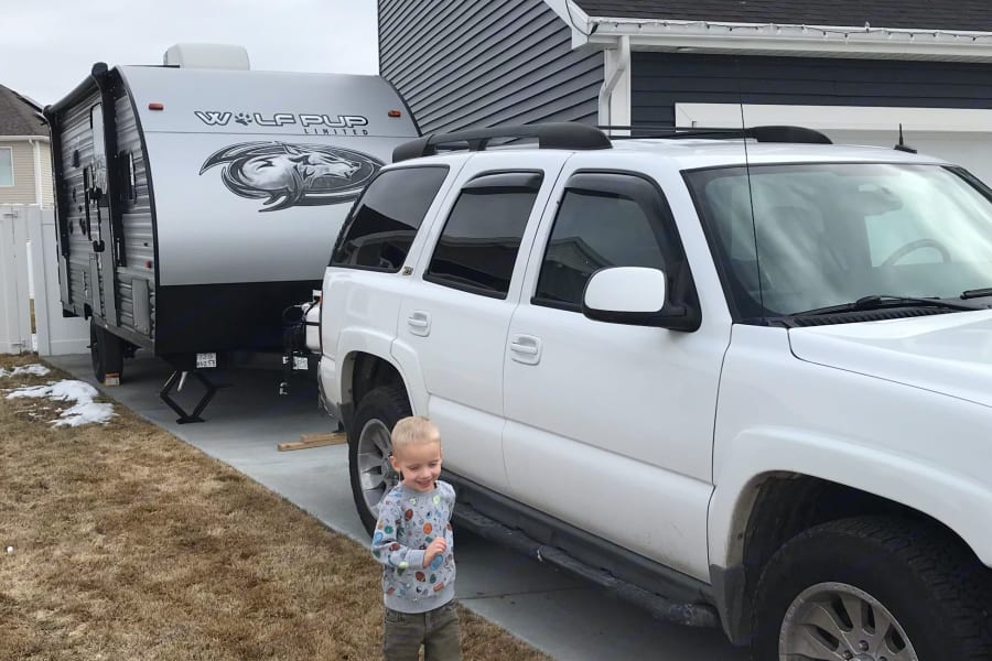 Size comparison to my Tahoe.