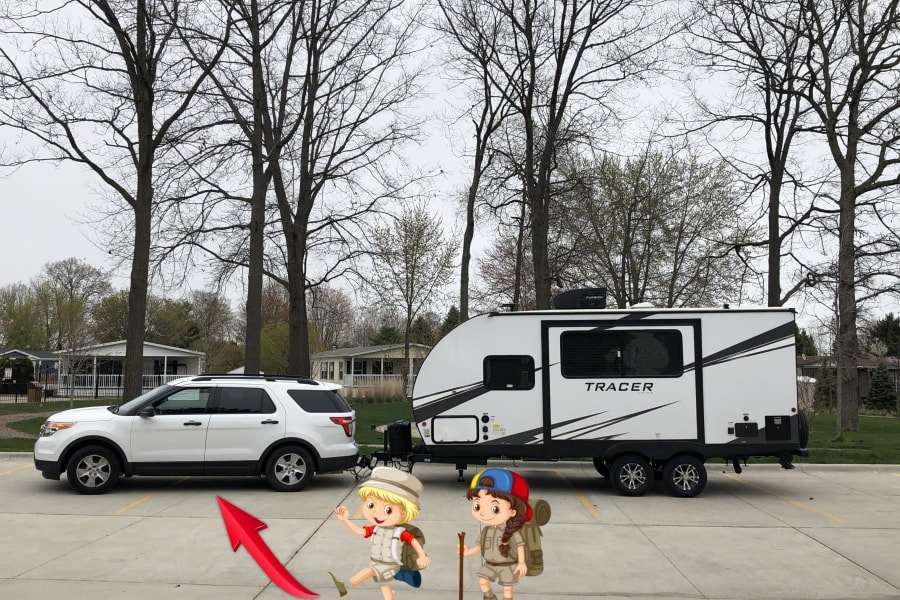 Most Midsize SUV's Can Tow This Travel Trailer! This Trailer With All Amenities I Offer Loaded Will Weight - Approximately 5000 Pounds.