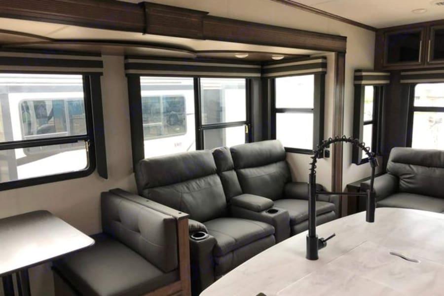 Livingroom Theater Seating - Heat/Vibrate & USB plugs!