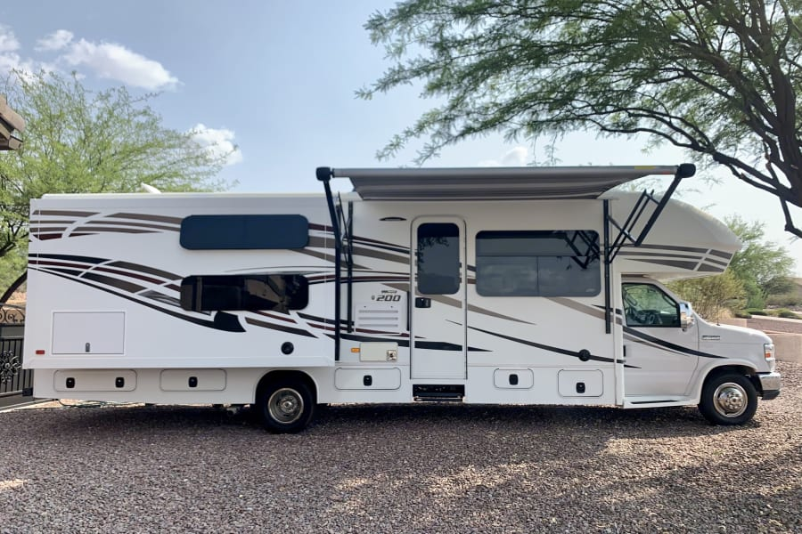 Exterior of the beautiful 2018 Jayco Redhawk 31XL
