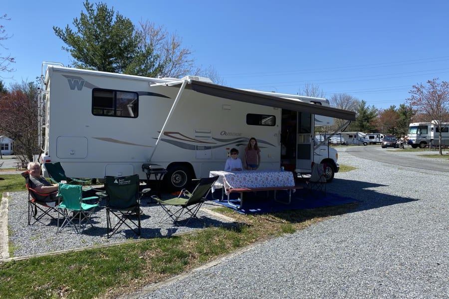 Camping in April outside Washington DC
