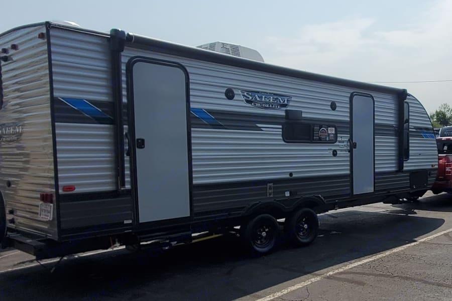 A camper ready for fun!