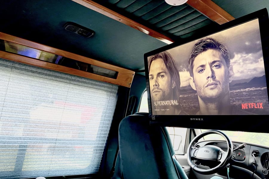 *The van does not come with wifi* but when its available you can watch your favorite shows via the amazon firestick :)