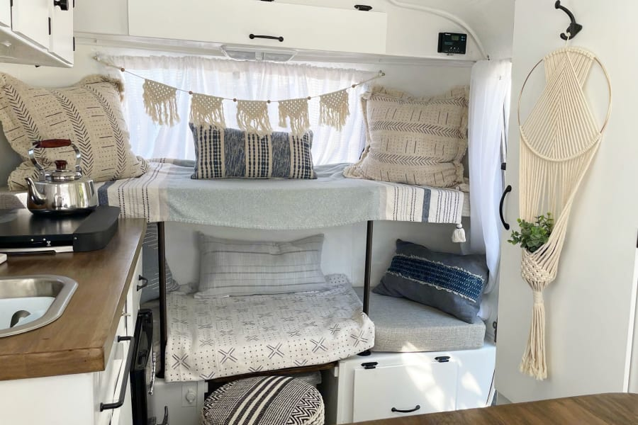 The bunk bed can convert into a couch if the extra bed is not needed.