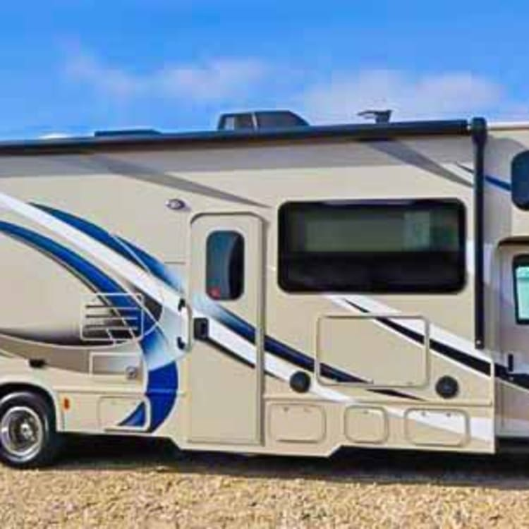 Great exterior with awesome 16' automatic awning equipped with a full LED light strip and an outdoor TV for all to enjoy great evening movies or that game you can't miss!