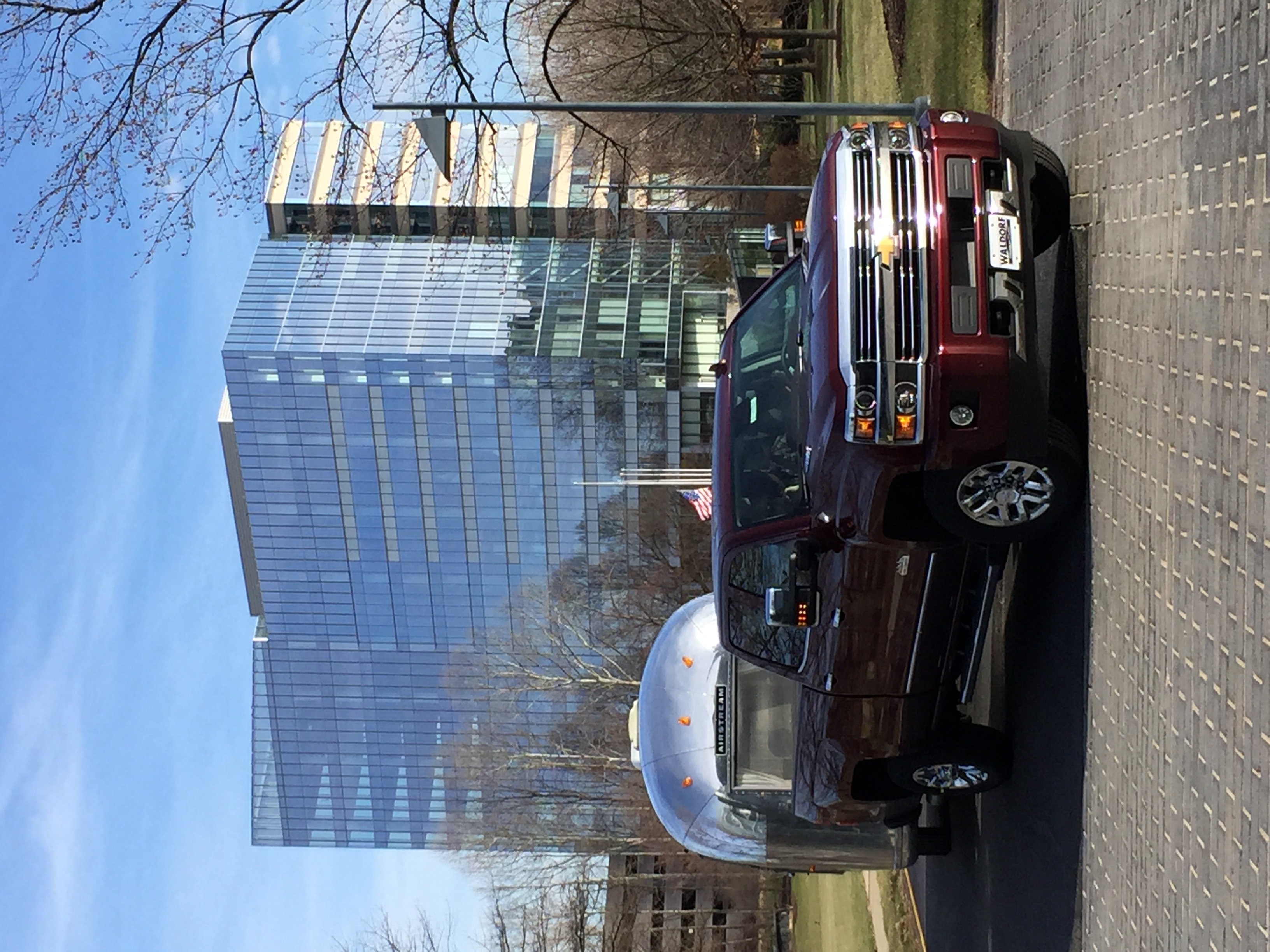 With Lucy at USA Today HQ, getting four USA Today reporters ready to launch a 10-day reporting trip through the southeastern United States.. Chevrolet Silverado 3500 High Country Duramax 2016