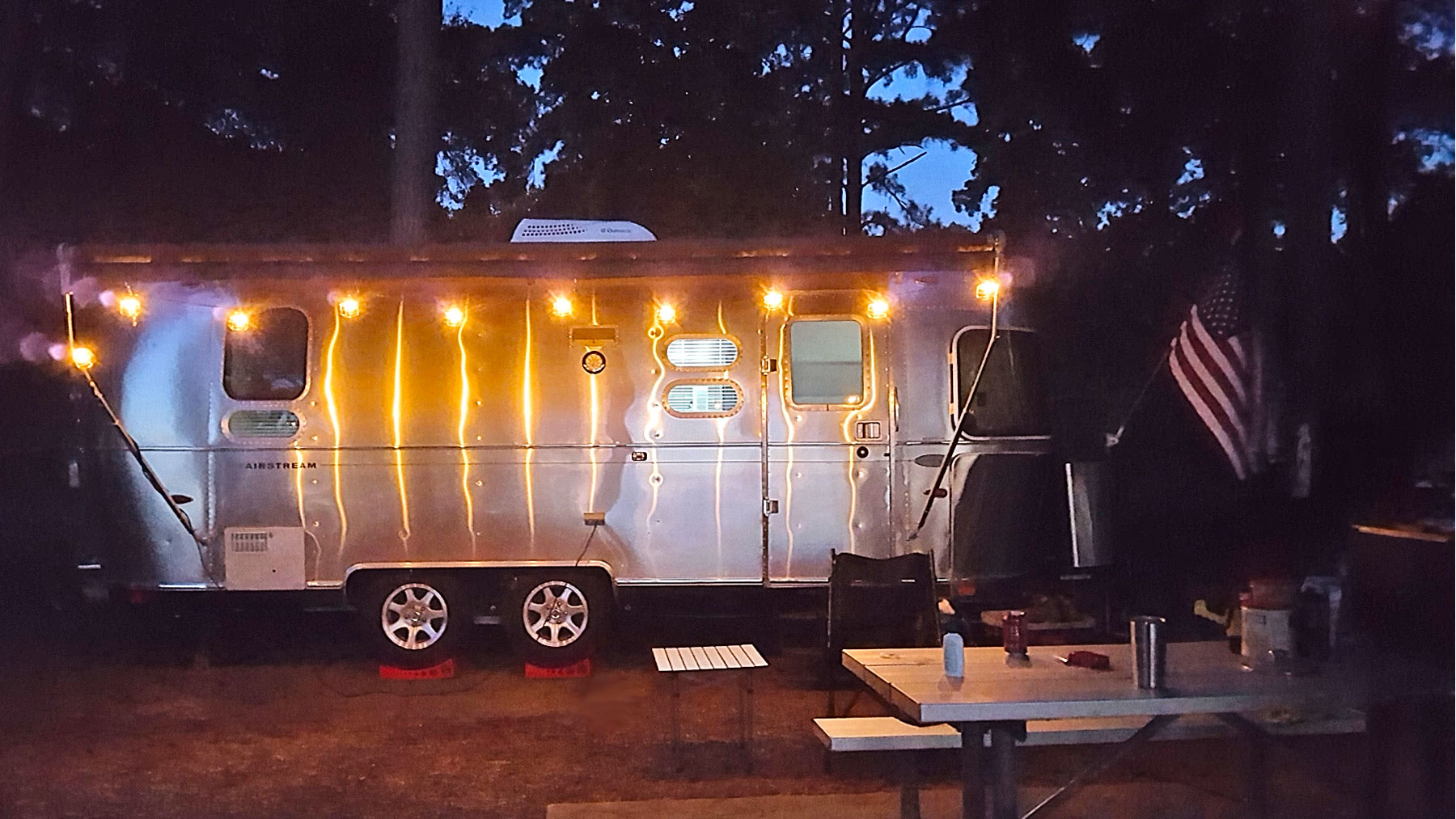 4th of July at Lake of the Pines in the heart of the Piney Woods.. Airstream Flying Cloud 2014