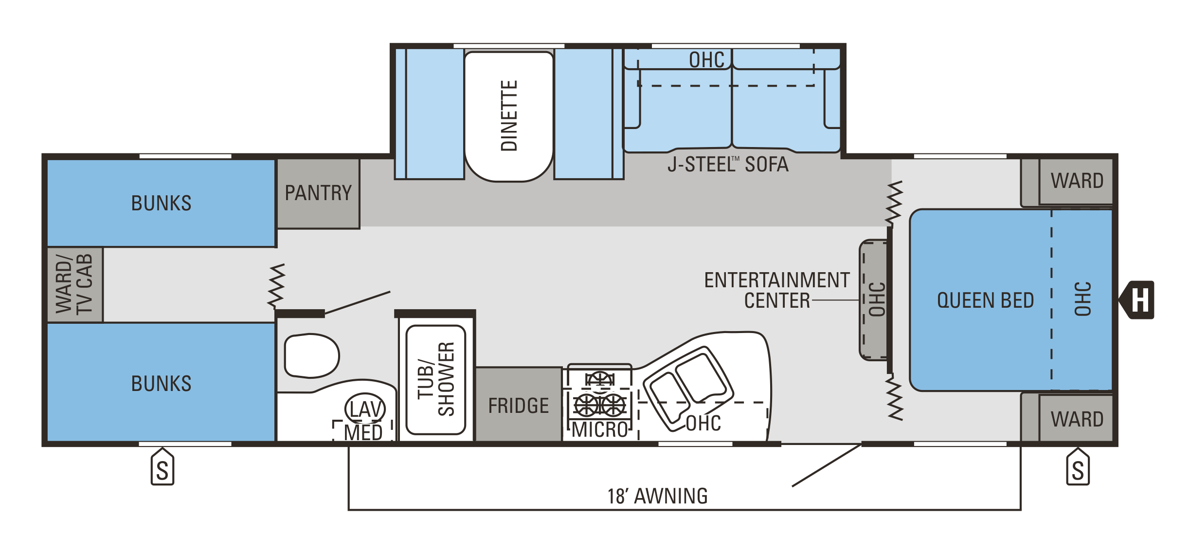 Floor  Plan. Jayco Jay Flight 2015