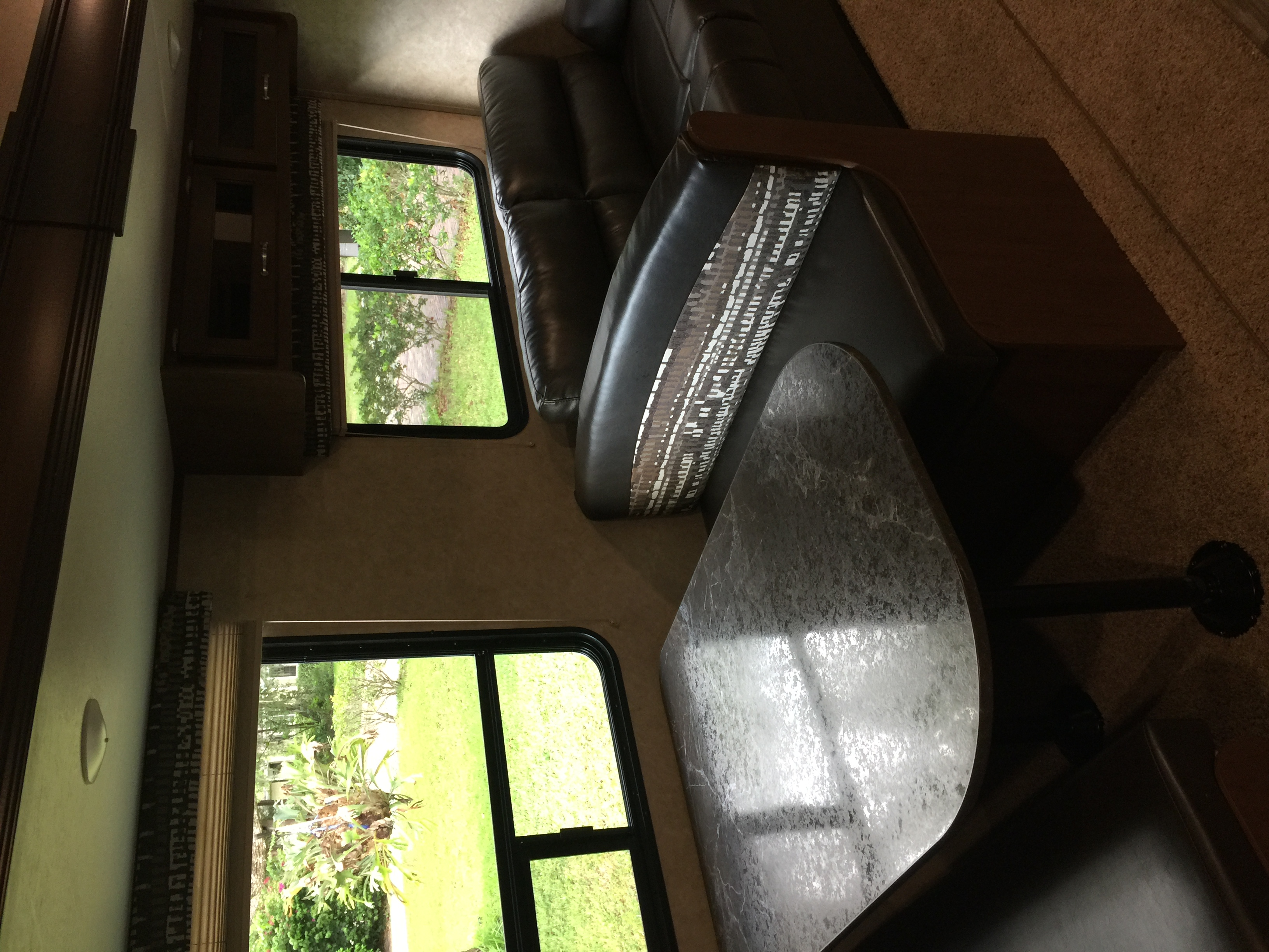 Lots of indoor and outdoor storage on this vehicle, couch folds down easily to make a comfortable bed. Jayco Jay Flight 2017