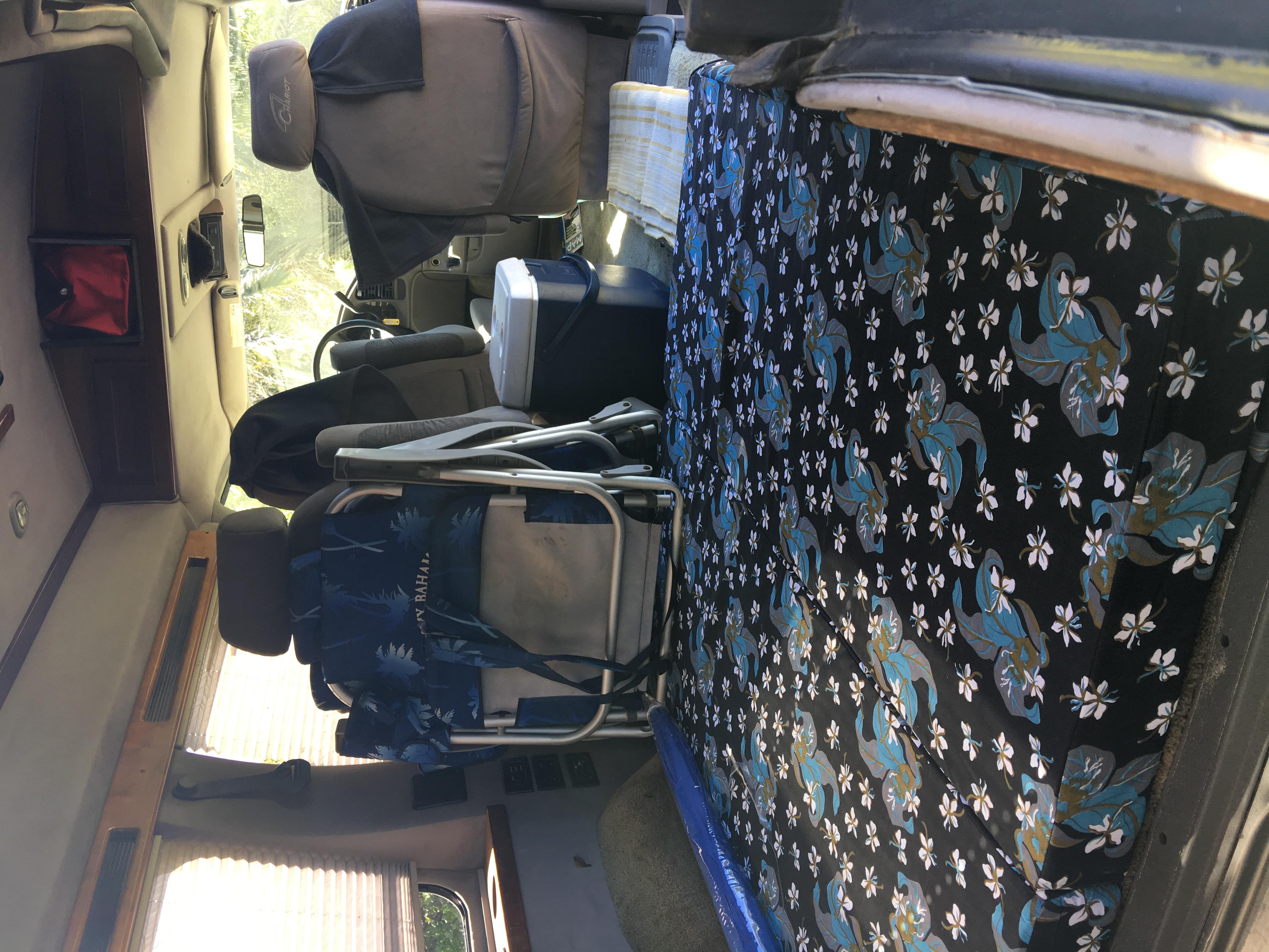 "4"" memory foam mattress sleeps two nicely . Chevrolet Astro Van 2003"