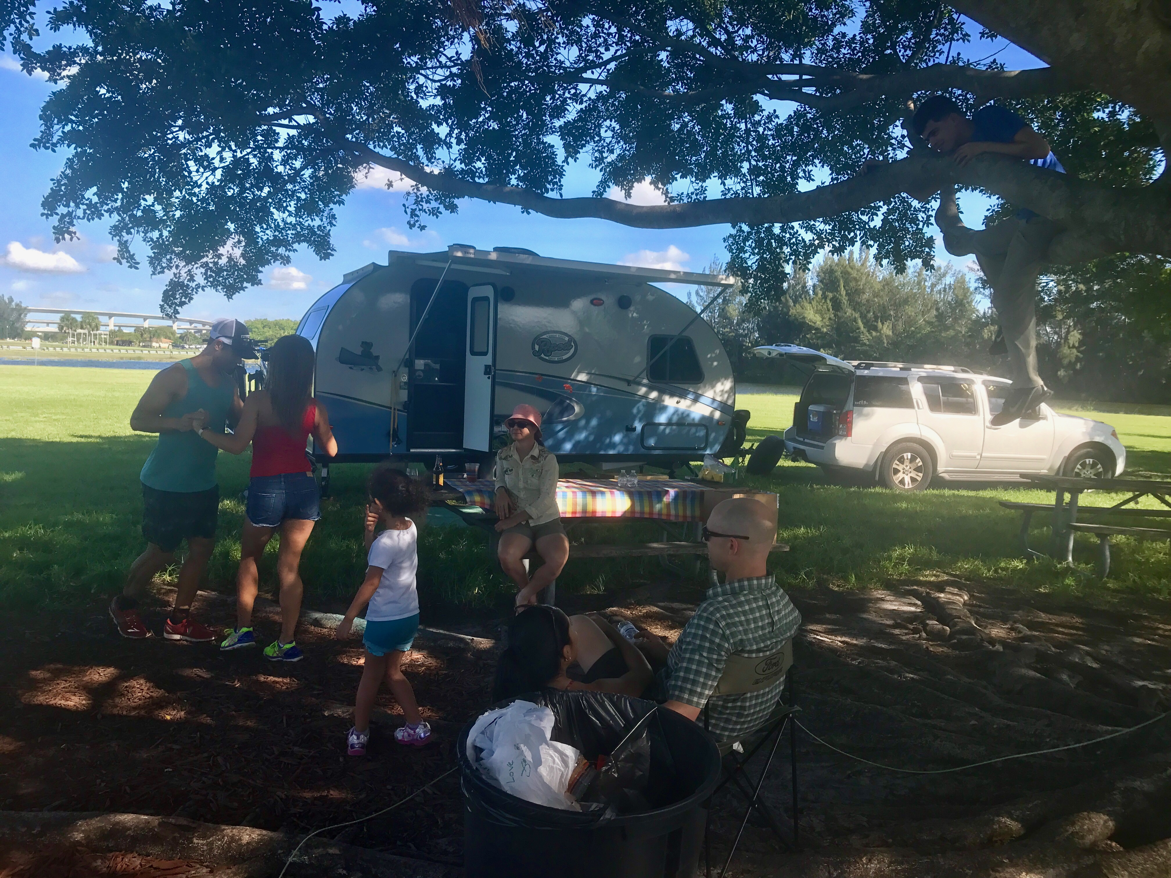 Enjoy the outdoors with your friends and family! (at Markham Park) -Actual travel trailer setup!