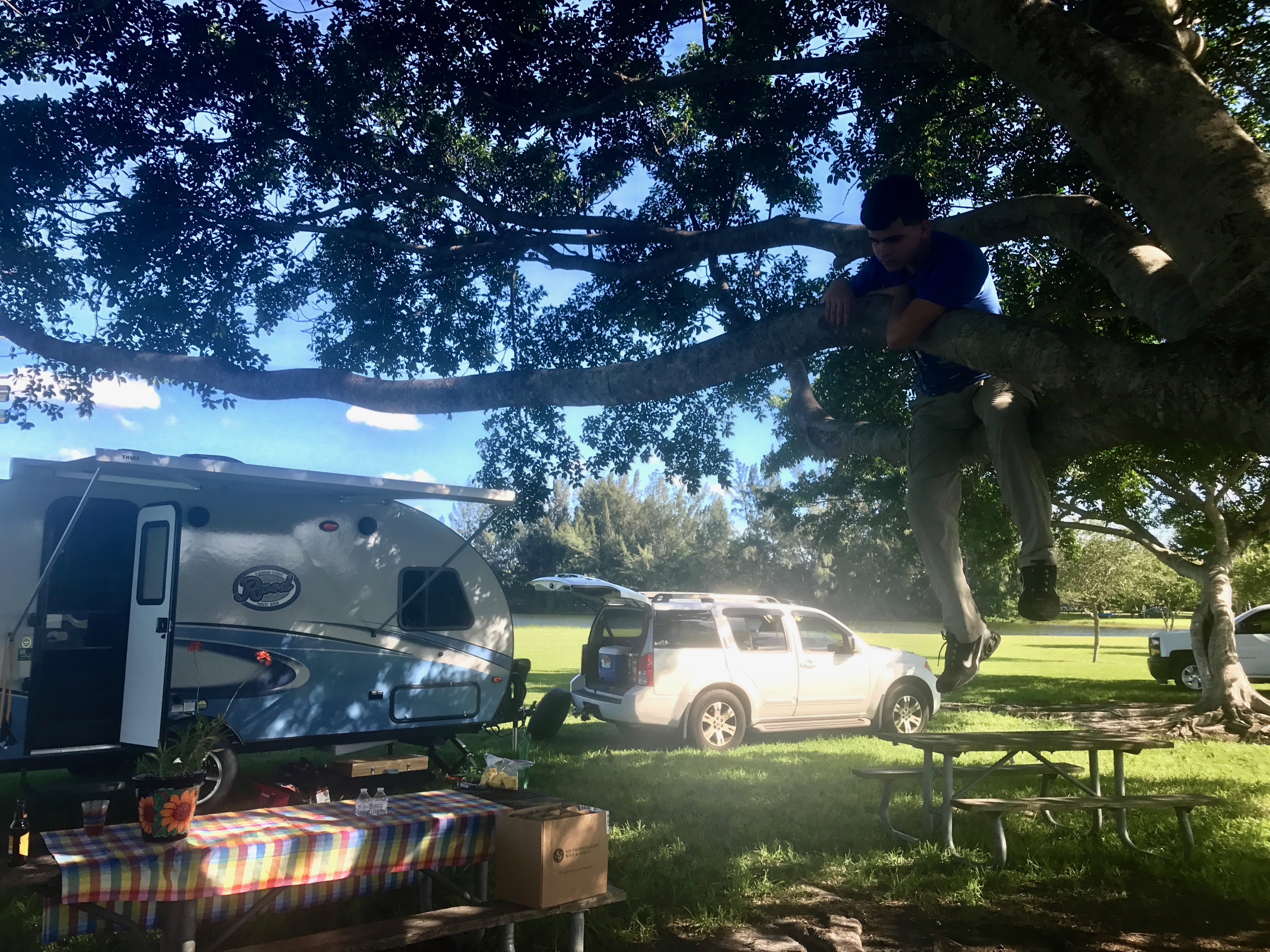 Teenager approved! -Actual travel trailer setup!