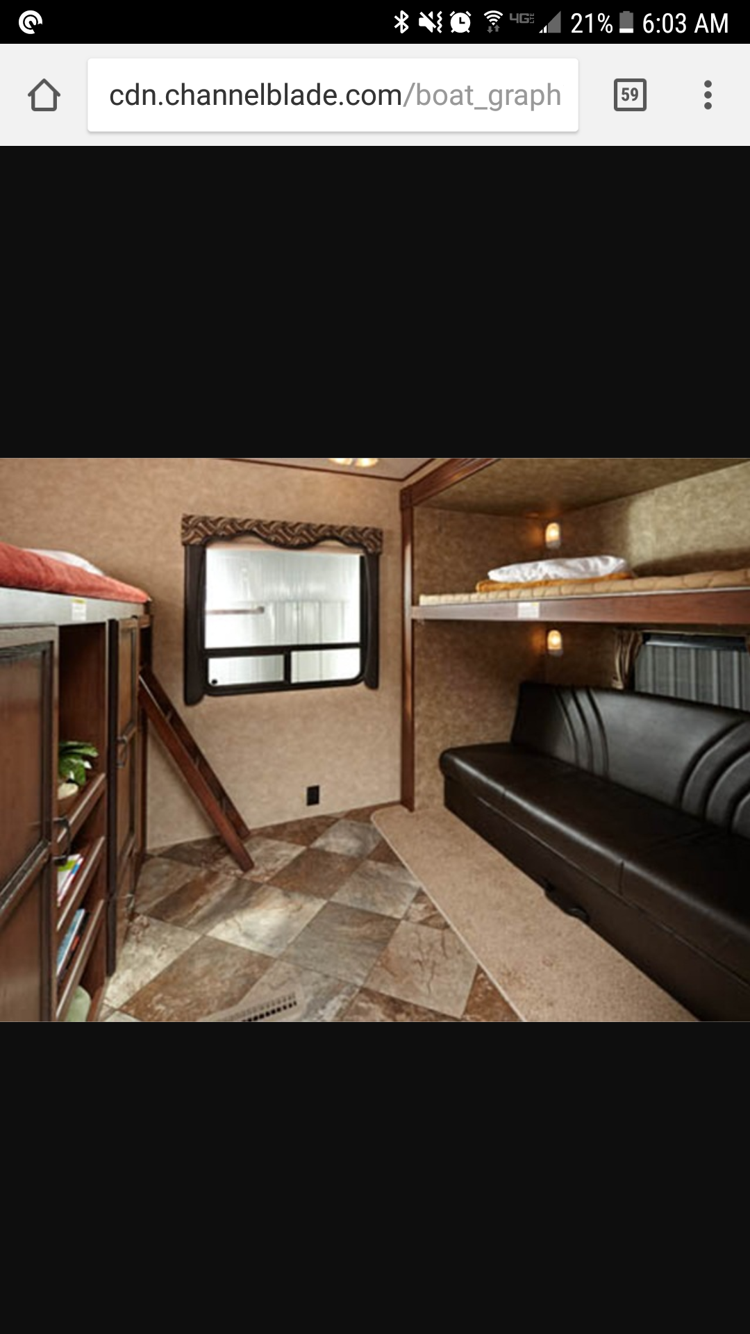 Bunkbeds Sleeps 4, couch lays flat,and a bed pulls out from under it... Crossroads Zinger 2013