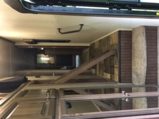 Hall Way from front door to Master, Ladder to access loft. Heartland Oakmont 2017