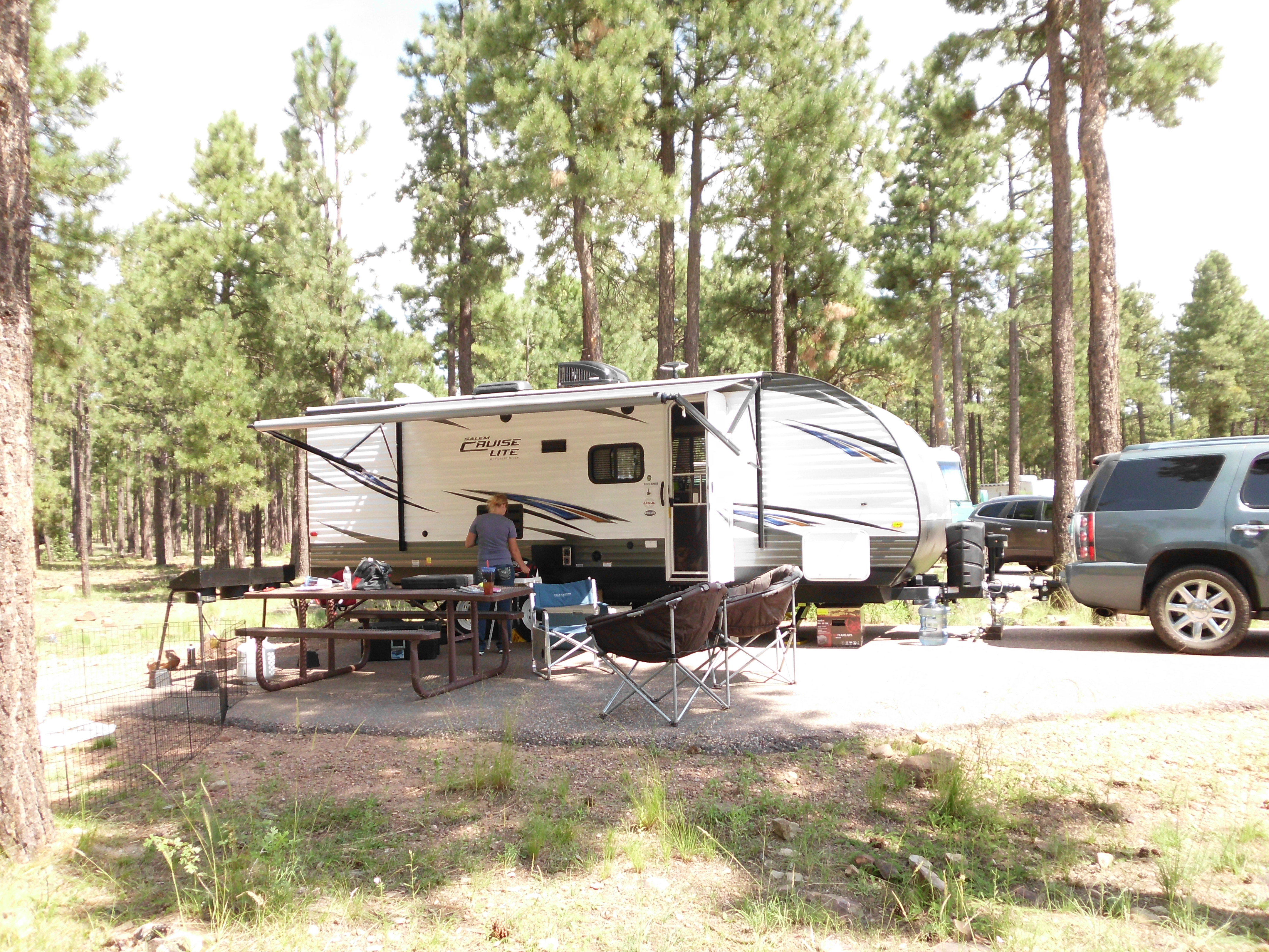 Family Forester with auto awning out and ready!. Forest River Salem Cruise Lite 2018