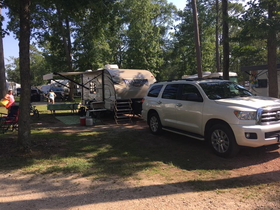 We use our Sequoia for our long distance trips. . Forest River Wildwood X-Lite 2017