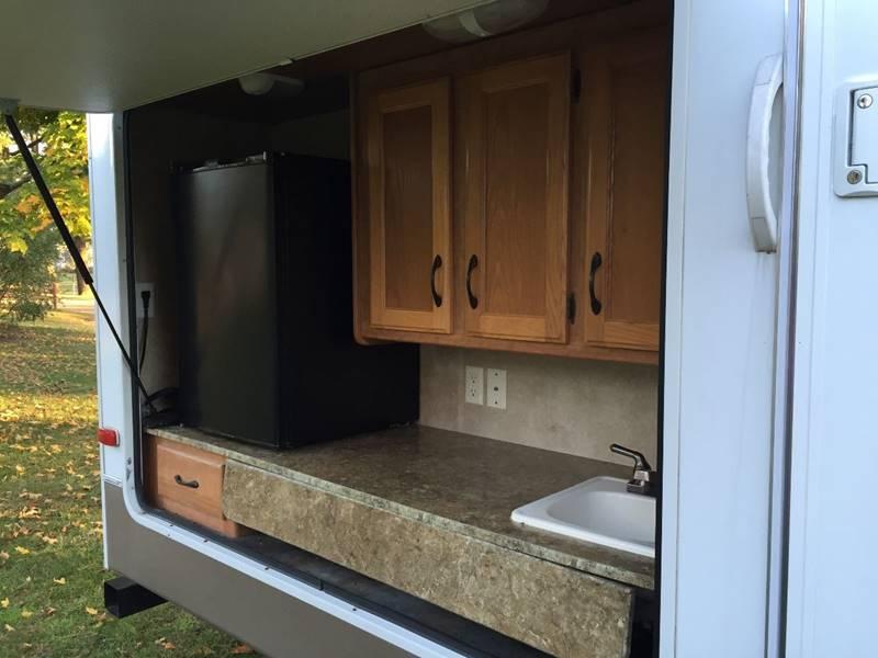 Close up of outdoor kitchen. Keystone Sprinter 2011