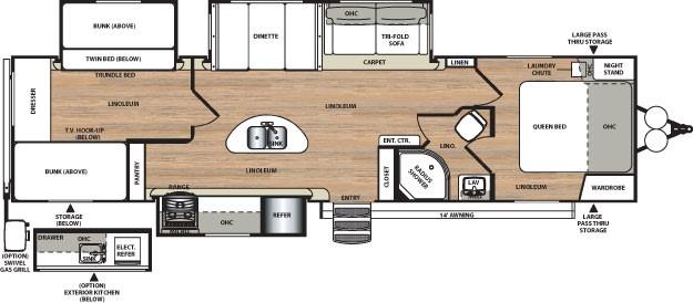 floor plan. Forest River Heritage Glen 2016