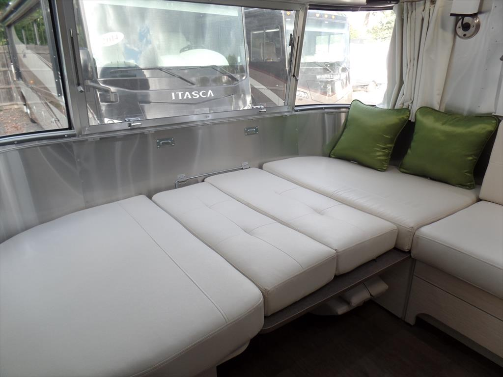 Lounge converted to sleeper. Airstream Serenity 2018