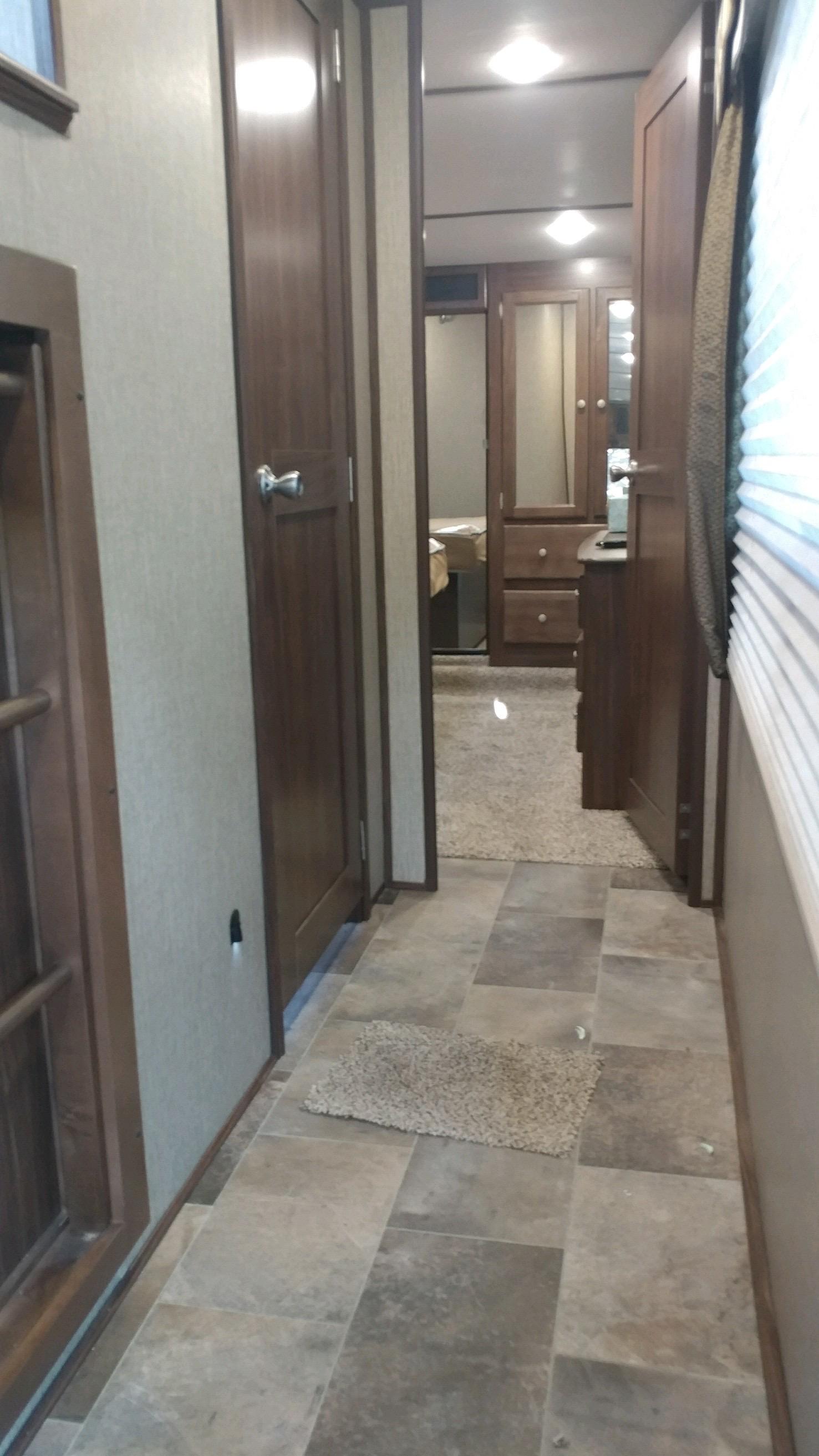 Hallway to Master bedroom and bathroom.. Keystone Sprinter 2016