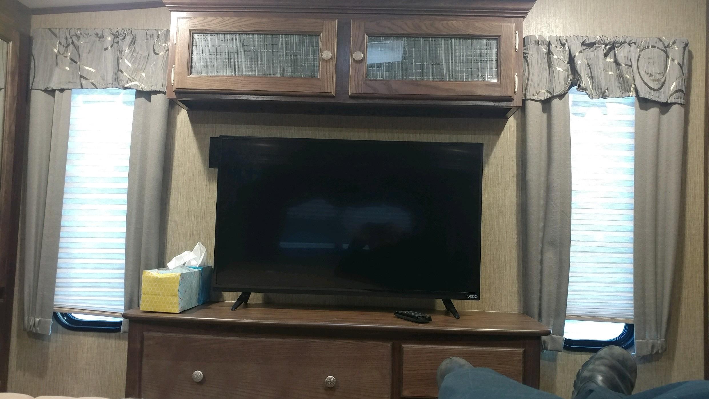 Master bedroom dresser and TV.. Keystone Sprinter 2016