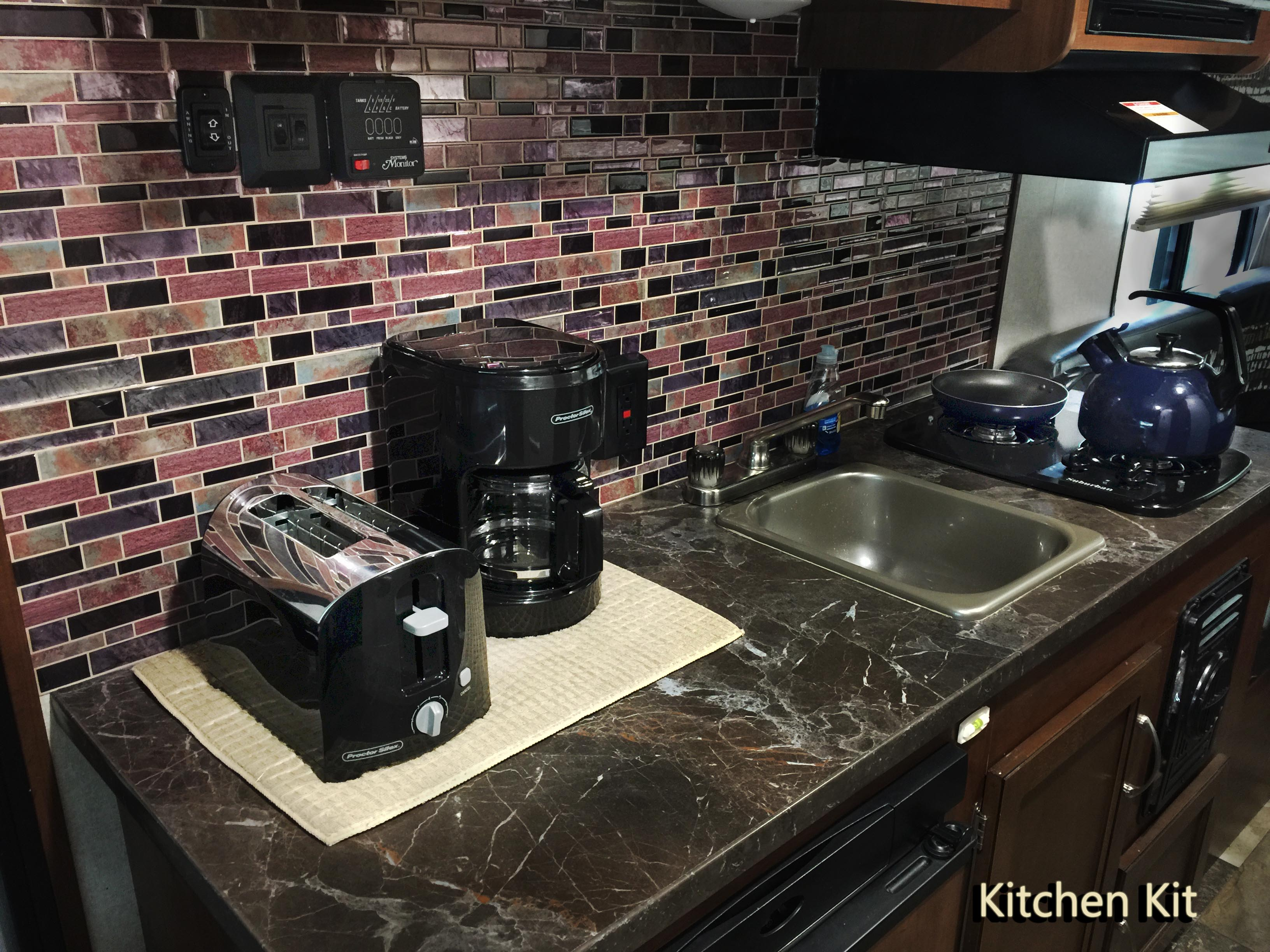 Kitchen Kit / utensils for eating and cooking. Up to four people.. Jayco Jay Flight 2017
