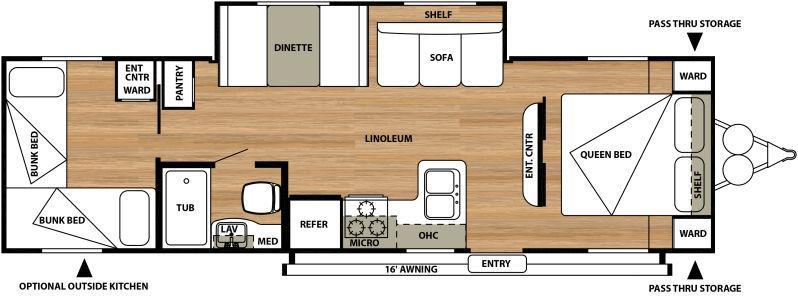 Floor plan . Forest River Salem Cruise Lite 2016