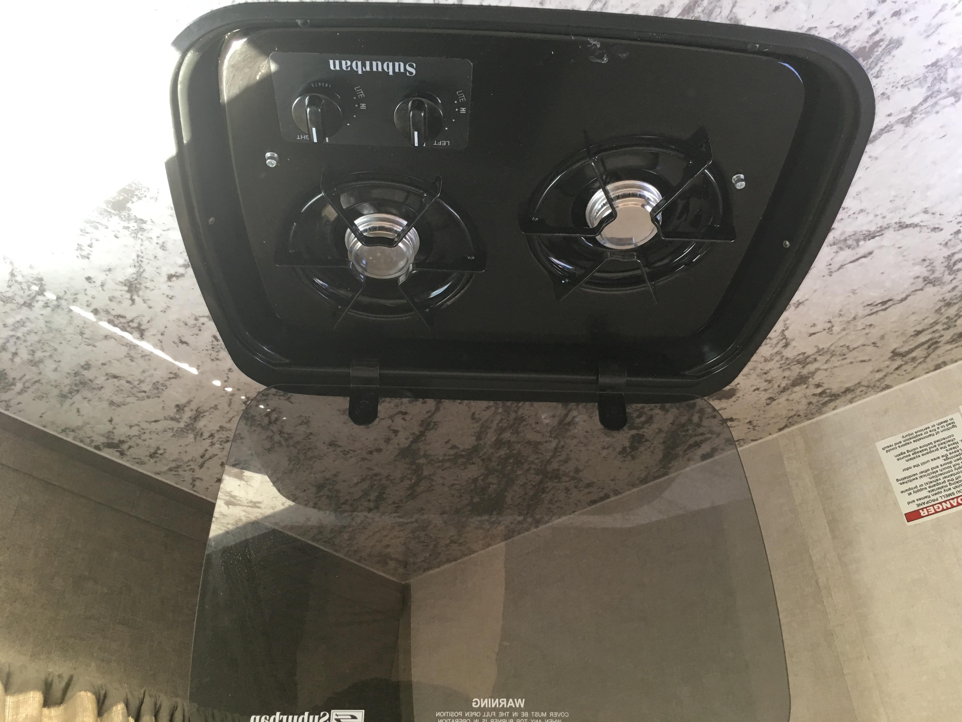 Two burner propane cooktop.