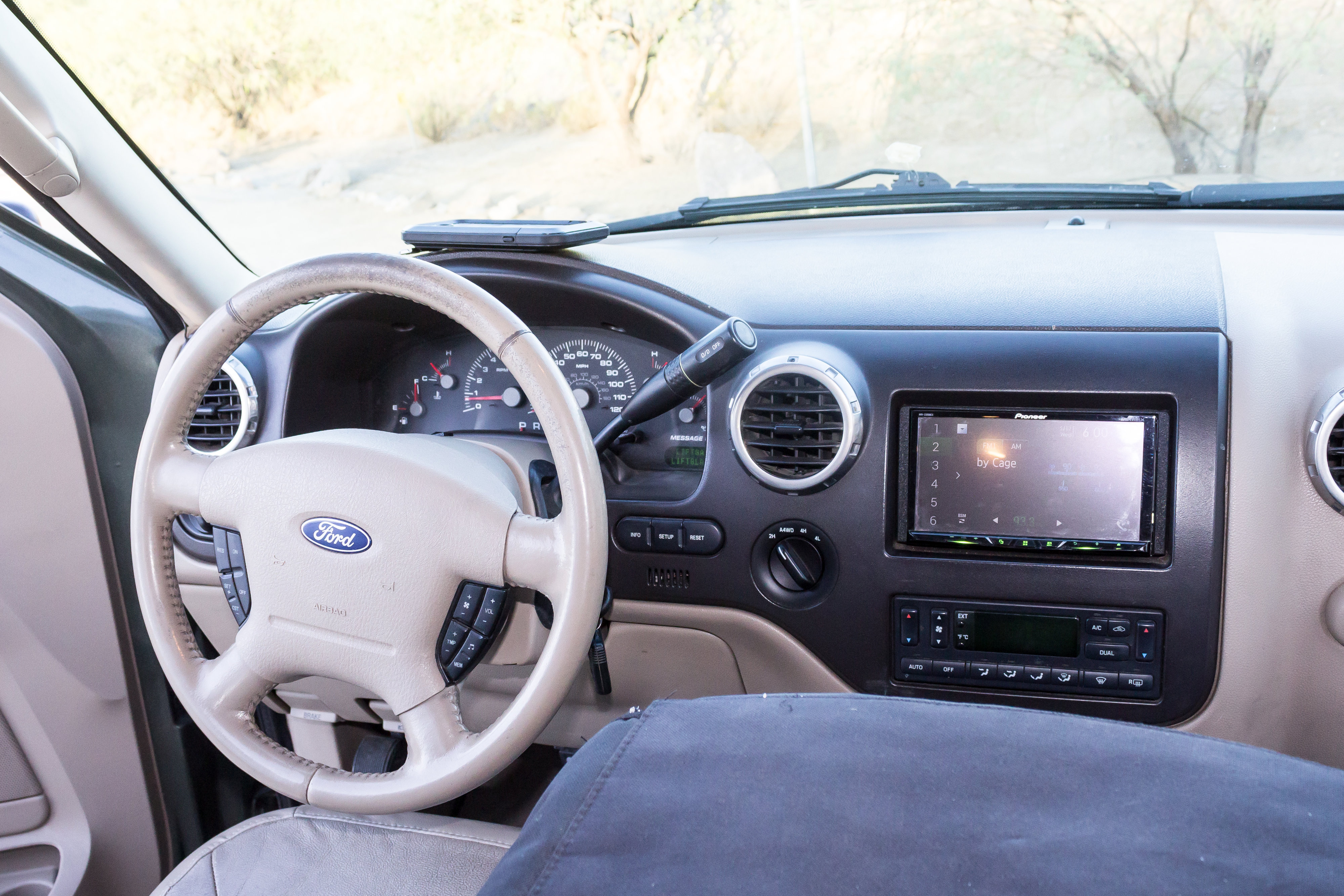 In-dash navigation display with your smartphone, and Apple CarPlay / Android Play interface makes driving fun and stress-free.  . Ford Expedition Camper Van Camper Van Adventure Rig 2005