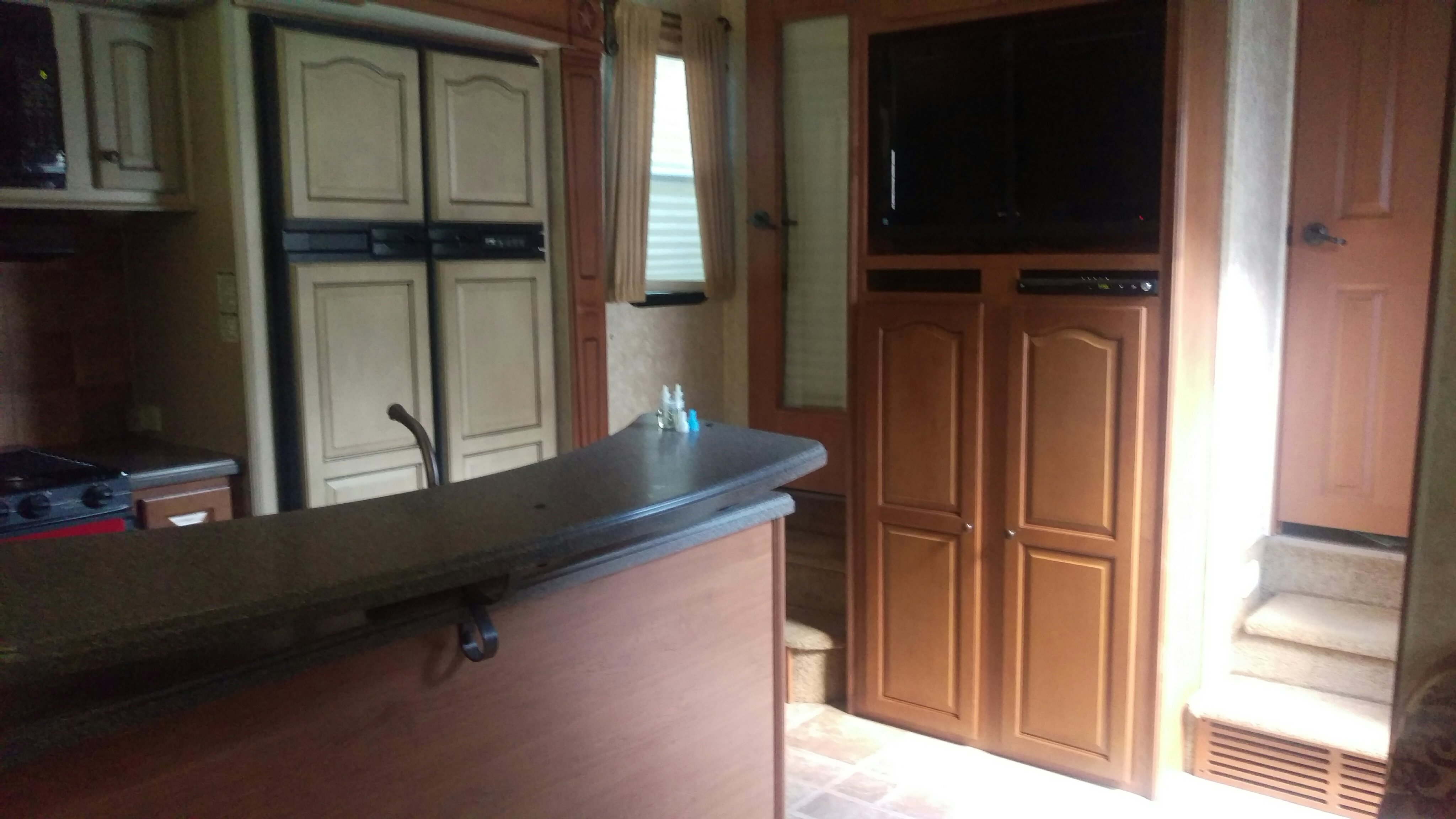 Kitchen with double refrigerator/freezer. Open Range Other 2010