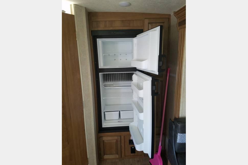 Refrigerator/freezer. Forest River Rockwood Mini Lite 2018